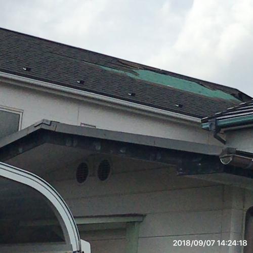 台風被害続出屋根