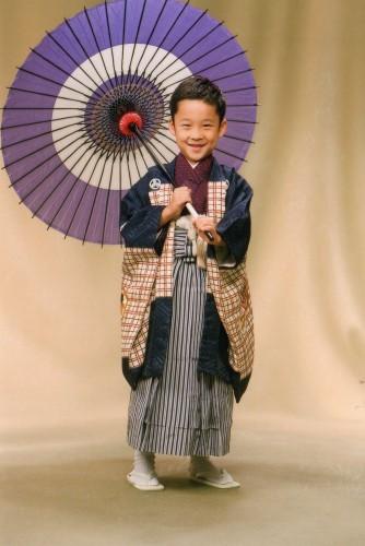 七五三五歳:親の着物を着る事が出来て親よりカッコ良かったです