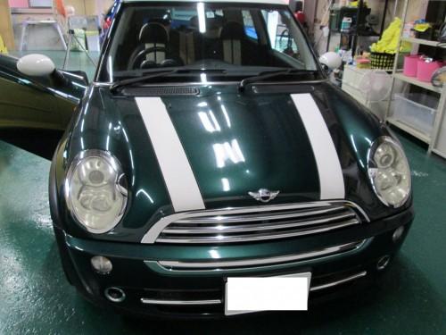 ミニクーパーの天井張替(垂下がり)|愛知県名古屋市O様のお車
