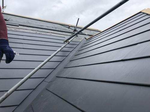 柏市屋根リフォーム、金属屋根葺き替えと外壁塗装工事