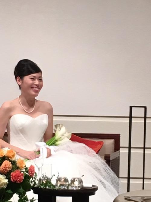 本日グランドオリエンタル挙式中花嫁