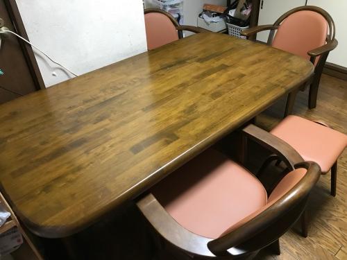 埼玉県 さいたま市 浦和区 ダイニングテーブル再塗装