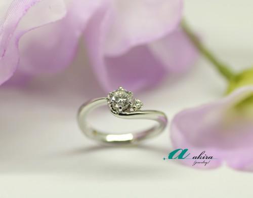 お母様の婚約指輪をリフォームしてお嫁さんに