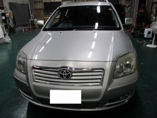 アベンシスの天井張替(剥がれてきた)|愛知県小牧市K様のお車