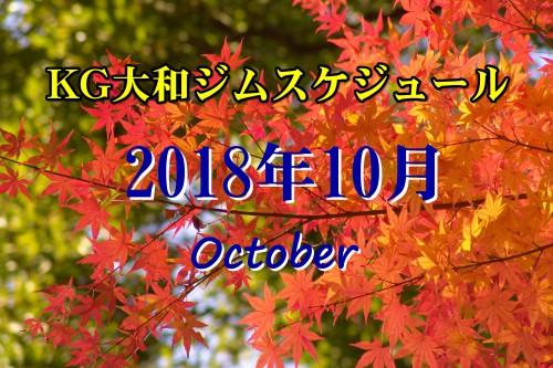 KG大和ジム10月のスケジュール!