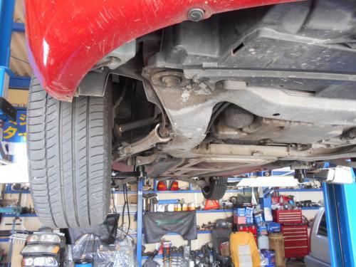 ボルボV70ドライブシャフトブーツグリス切れで中古の物に取替