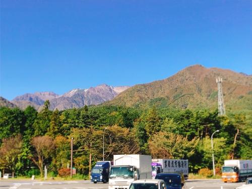 長野県で調査を終えた朝
