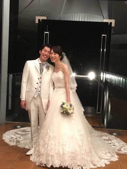 軽井沢石の教会挙式花嫁