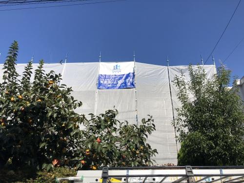 我孫子市 外壁塗装と屋根塗装で施工中です。