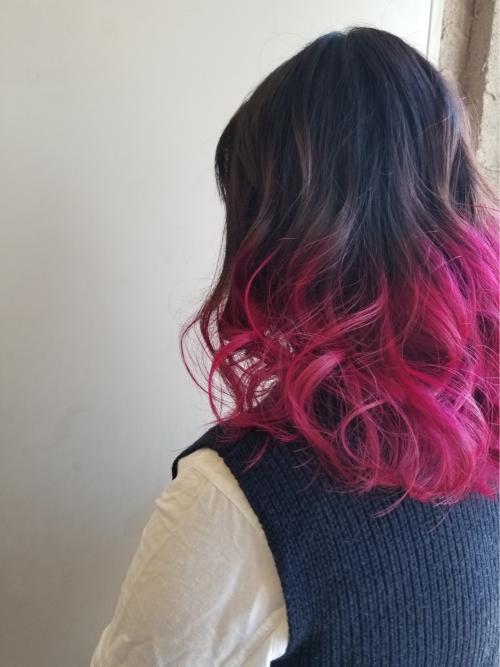 グラデーションカラー ピンクレッド ☆MAI