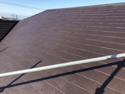 柏市 屋根塗装が完了。再生工法つや消し仕上げです。