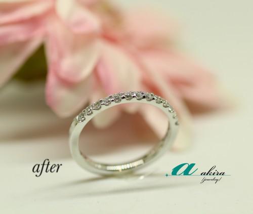 結婚指輪をエタニティリングにリフォーム中央区から