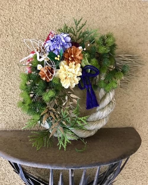 11月3レッスンの中の3.稲穂丸〆飾り