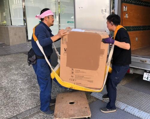 港区 家電搬入作業 洗濯機運搬 2トンロング