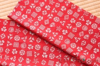 歌舞伎紋ちらし(赤)
