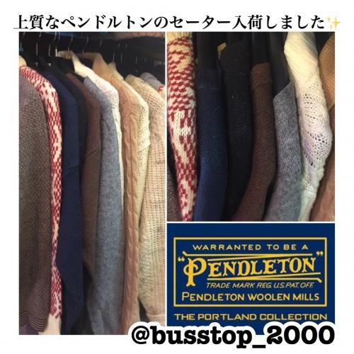 ペンドルトンのウールセーターが入荷しました!(o^^o)