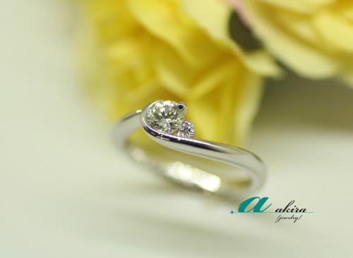 船橋市からご来店のお客様の婚約指輪を御納品