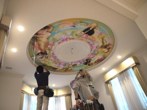 天井画の貼り