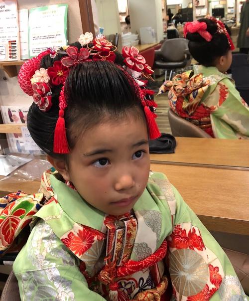 七五三は日本髪で^^