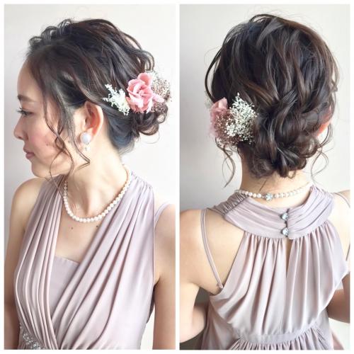 結婚式アップ brambly  髪飾り