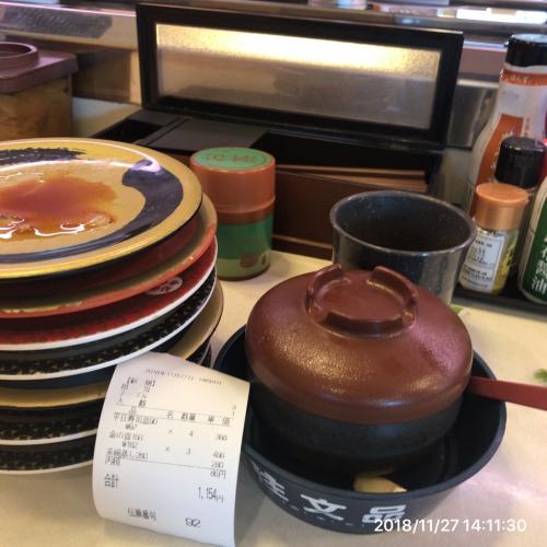 お昼御飯 お寿司1154円