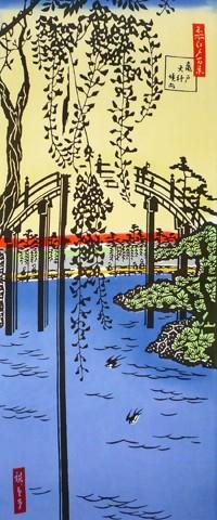 浮世絵師・歌川広重の名所江戸百景てぬぐい その二