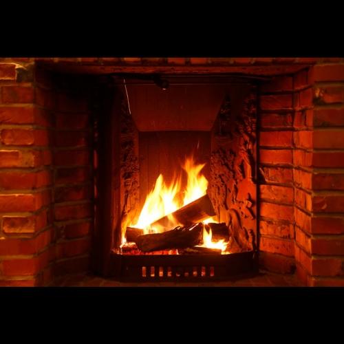 暖炉あります!