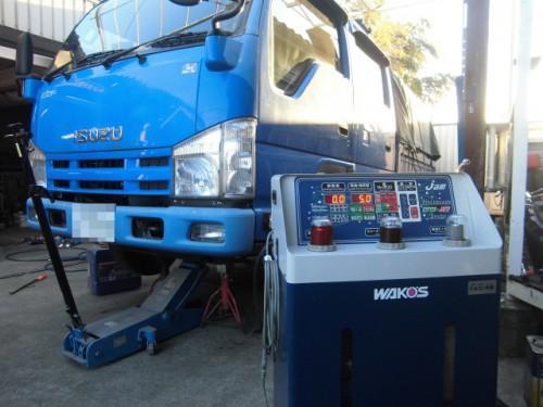 NJR85エルフ トルコン太郎でATF圧送交換。