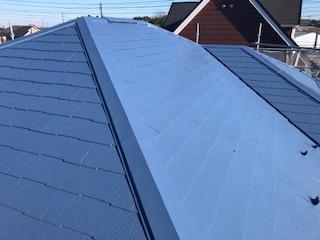 坂戸市で屋根塗装工事が完了致しました