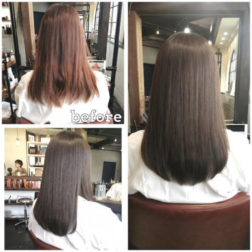 髪質改善できるサイエンスアクアのアクアモイスチャーカラー♪