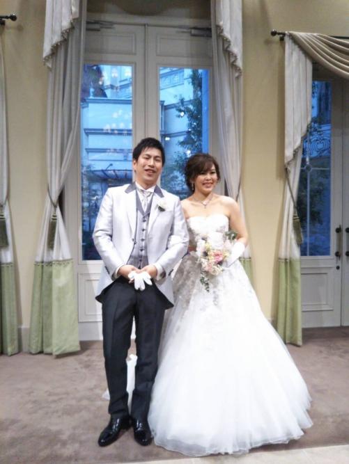 ハートコート結婚式花嫁