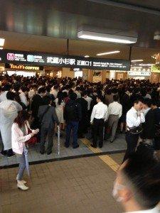 台風26号☆武蔵小杉の駅がコスギーランド(u_u)