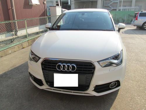 アウディA1の天井張替(剥がれ)|愛知県名古屋市T様のお車
