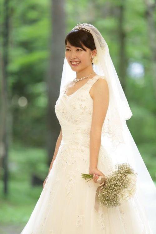 軽井沢結婚式花嫁