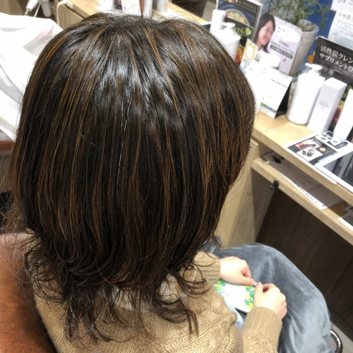 おすすめ人気ハイライトカラー調布美容室髪型