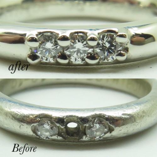 外れてしまったダイヤの結婚指輪の修理