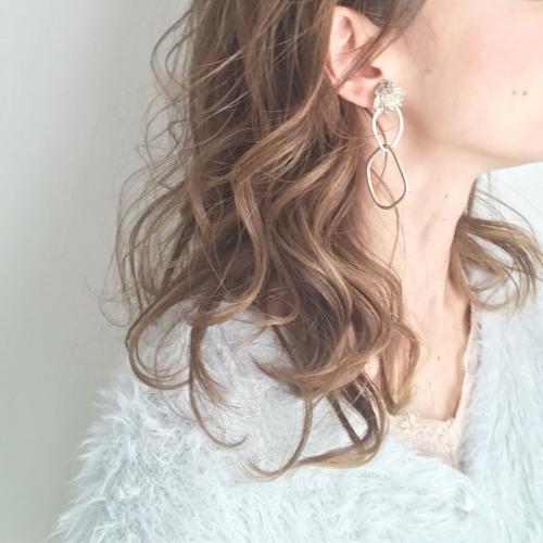cilsoie イヤリング 巻き髪アレンジ