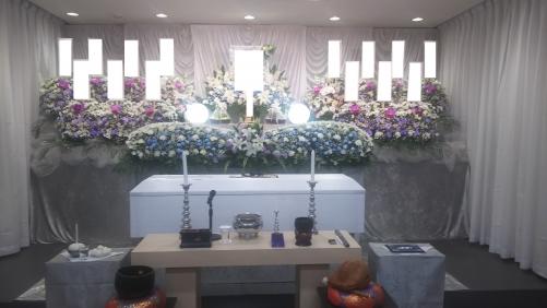 日華多摩斎場にて家族葬