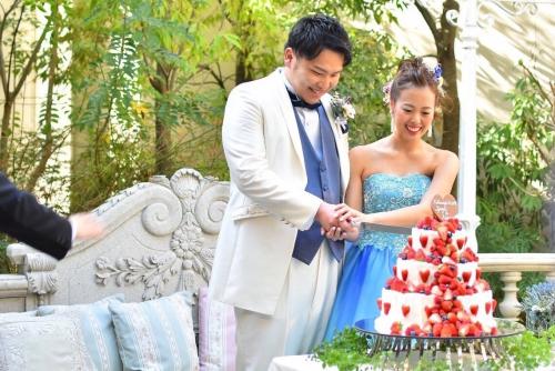 ハートコート結婚式花嫁写真