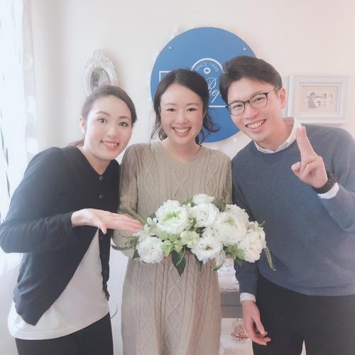 3月2日シーサイドリビエラ結婚式花嫁花婿