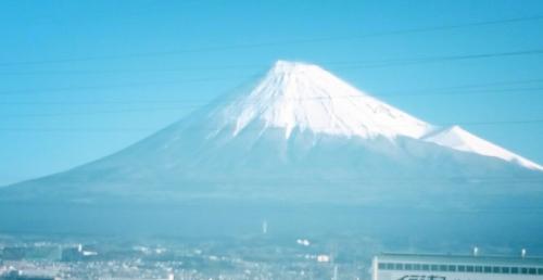 富士山キラキラ輝いてます