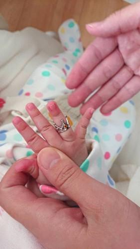 出産祝いに赤ちゃんの指輪、ベビーリング
