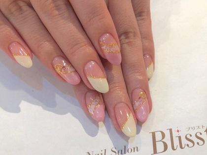 ピンクと黄色の春色フレンチネイル♪