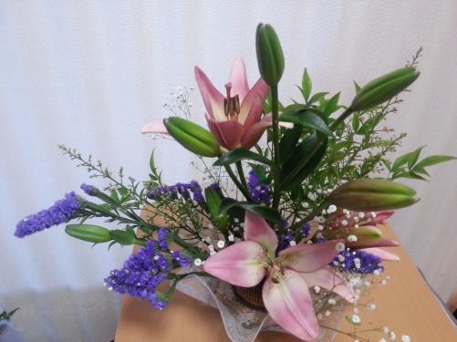 お花教室♪
