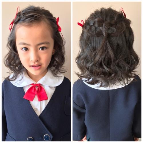 卒園式  女の子 髪型 ハーフアップ 2019年