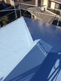 日高市で屋根遮熱塗装工事が完了致しました
