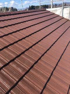 鶴ヶ島市で屋根モニエル瓦の塗装工事が完了しました