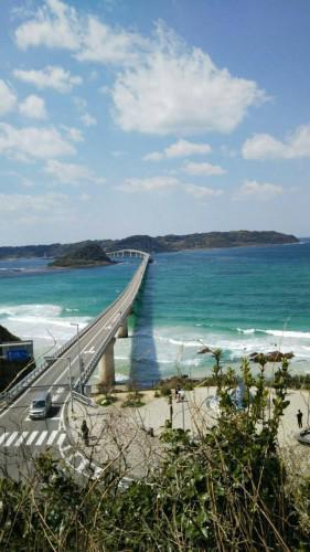 春休みの家族旅行で山口の角島へ行ってきました。