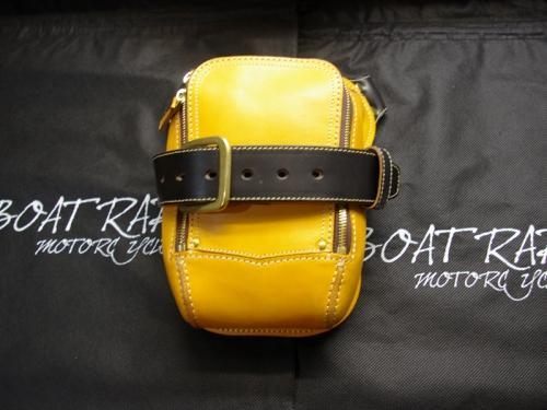 レッグサイドバッグ 特注 黒×黄コンビ