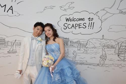 スケープス結婚式花嫁